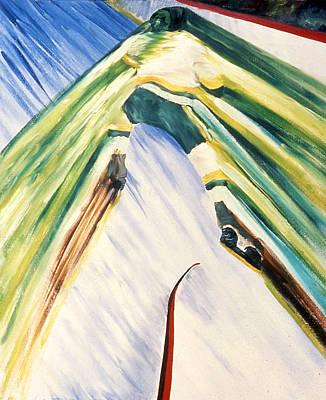 Back Checking Art Print by Ken Yackel