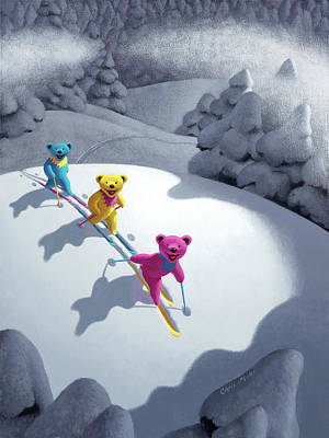Wall Art - Painting - Back Country Bears by Chris Miles