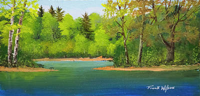 Painting - Back Country Pond by Frank Wilson
