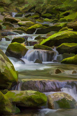 Smokey Mountains Digital Art - Back Country Stream II by Jon Glaser