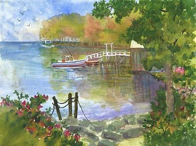 Painting - Back Cove In New Harbor Maine  by Roseann Meserve