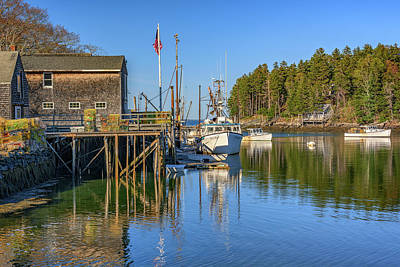 Photograph - Back Cove In New Harbor by Rick Berk