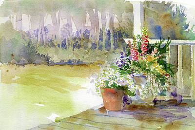 Painting - Back Deck by Garden Gate magazine