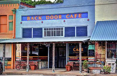 Photograph - Back Door Cafe by Savannah Gibbs