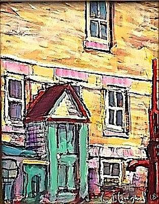 Painting - Back Door by Les Leffingwell