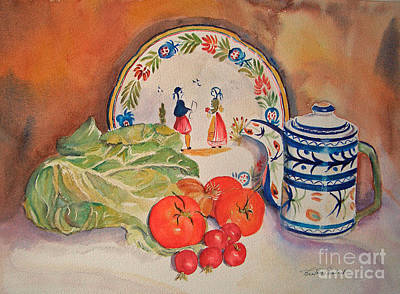 Painting - Back From Market by Beatrice Cloake