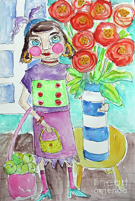 Painting - Back From The Market by Rosemary Aubut