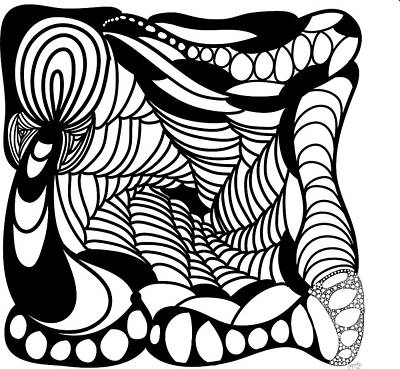 Back In Black And White 14 Modern Art By Omashte Print by Omaste Witkowski