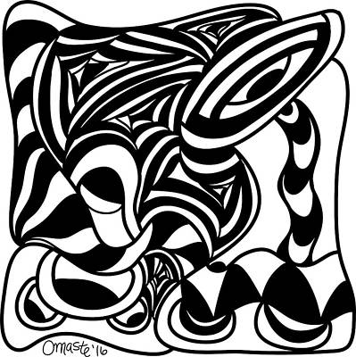 Back In Black And White 4 Modern Art By Omashte Print by Omaste Witkowski