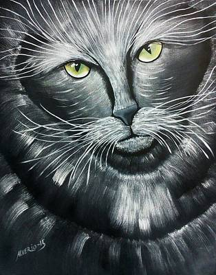 Ac - Dc Painting - Cats by Edwin Alverio