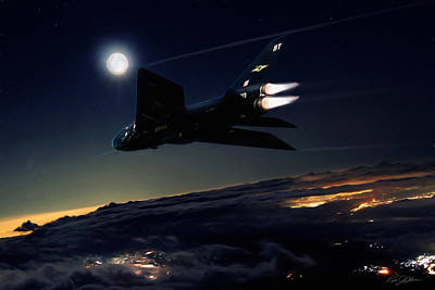 Evening Digital Art - Back In Black by Peter Chilelli