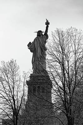 Photograph - Back In Black Statue Of Liberty by Art Atkins