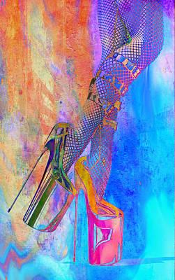 Digital Art - Back In Heels by Greg Sharpe