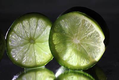 Photograph - Backlit Limes by Angela Murdock