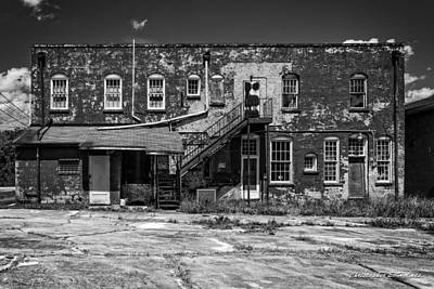 Print featuring the photograph Back Lot - Bw by Christopher Holmes