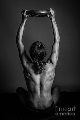 Female Bodybuilder Photograph - Back Muscles by Jt PhotoDesign