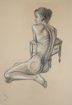 Back Nude 2 Art Print by Donelli  DiMaria