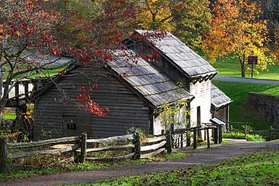 Photograph - Back Of Mabry Mill by Kathryn Meyer