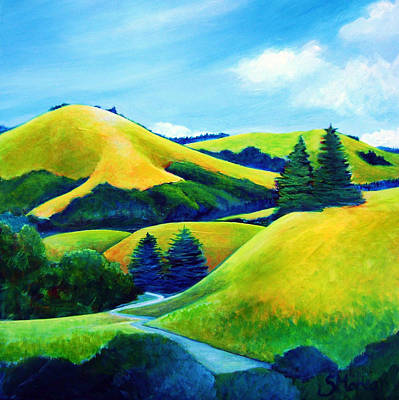 Back Of Mindego Hill Art Print by Stephanie  Maclean