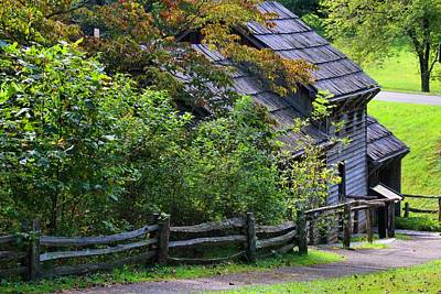 Photograph - Back Of The Mabry Mill by Kathryn Meyer