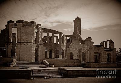 Photograph - Back Of The Ruins In Sepia by D Hackett