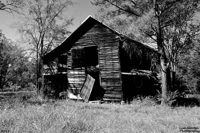 Photograph - Back On The Farm Black And White by Lisa Wooten