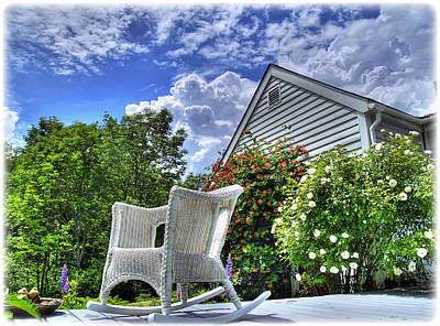 Photograph - Back Porch In Summer by Tammy Wetzel