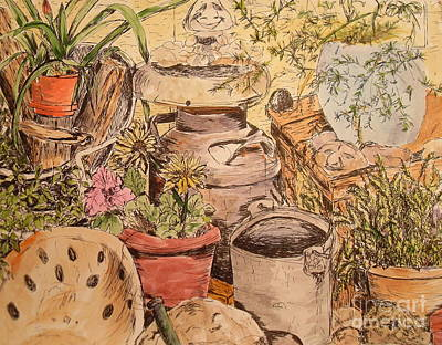 Back Porch Painting - Back Porch  by Vicki  Housel