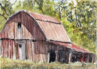 Painting - Back Road Barn by Barry Jones