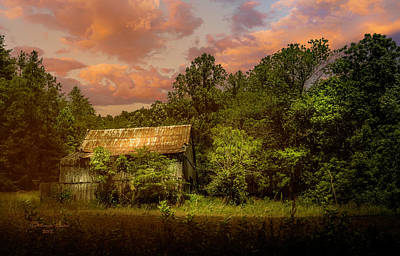 Old Rustic Building Wall Art - Photograph - Back Road Barn by Marvin Spates