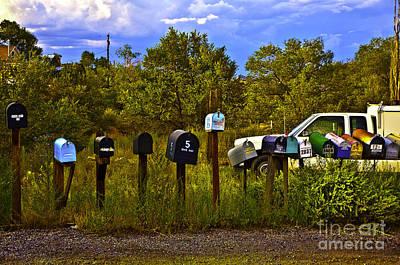 Backroad Digital Art - Back Road Mailboxes by Madeline Ellis