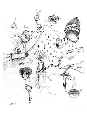 Back Rooms Of My Mind Door 17715 Art Print by Michael Mooney