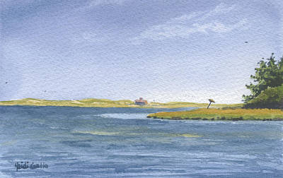 Cape Cod Painting - Back Side Of Hog Island by Heidi Gallo