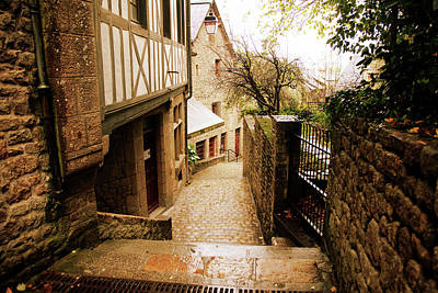 Photograph - Back Street In Mont Saint Michel by Hugh Smith