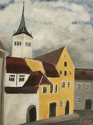 Back Streets In Old Tallinn Estonia  Original by Rauno  Joks
