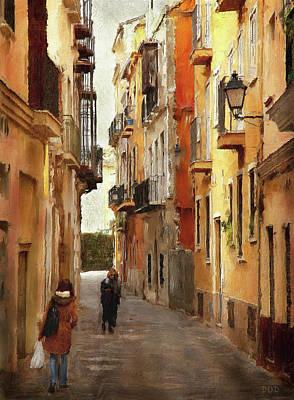 Back Streets Of Spain Art Print by Declan O'Doherty