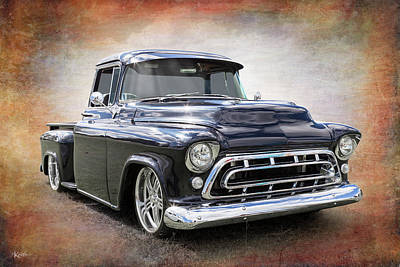 Chev Pickup Photograph - Back To Black by Keith Hawley