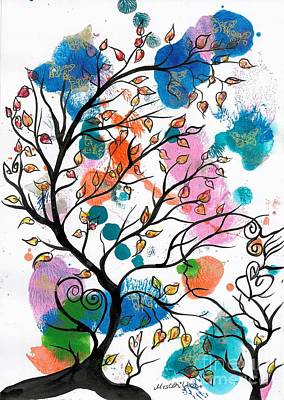 Tree Painting - Back To Childhood by Mrs Wilkes Art