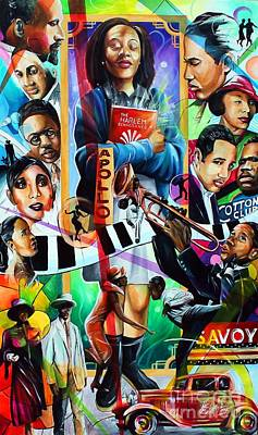 Painting - Back To Harlem by Henry Blackmon