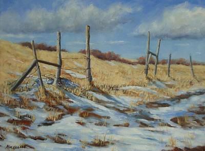 Prairie Painting - Back To Open Range by Debra Mickelson