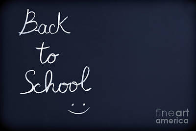 Photograph - Back To School Background by Anna Om