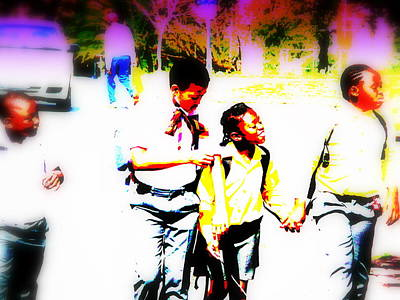 Funkpix Digital Art - Back To School In Soweto  by Funkpix Photo Hunter