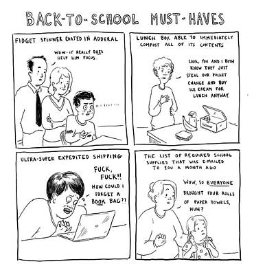 Drawing - Back-to-school Must-haves by Emily Flake