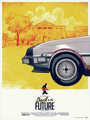 Back To The Future 1 Delorean Art Print