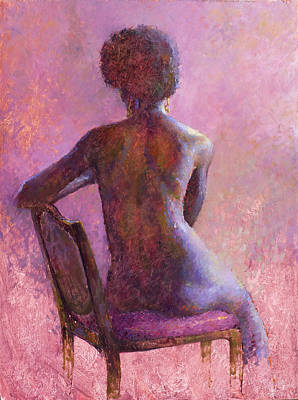 Wall Art - Painting - Back View by Miguel Malagon