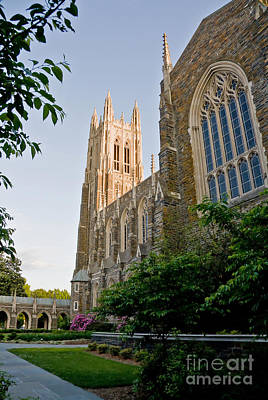 Photograph - Back View Of Duke Chapel by Jill Lang