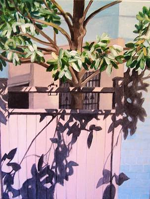 Painting - Back Yard by Laura Aceto
