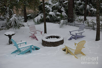 Photograph - Back Yard Winter Scene by Dale Powell