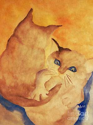 Painting - Back Your Brothers Play, Its Tails by Maria Urso