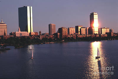 Photograph - Backbay Boston Sunset In The Eighties by Tom Wurl